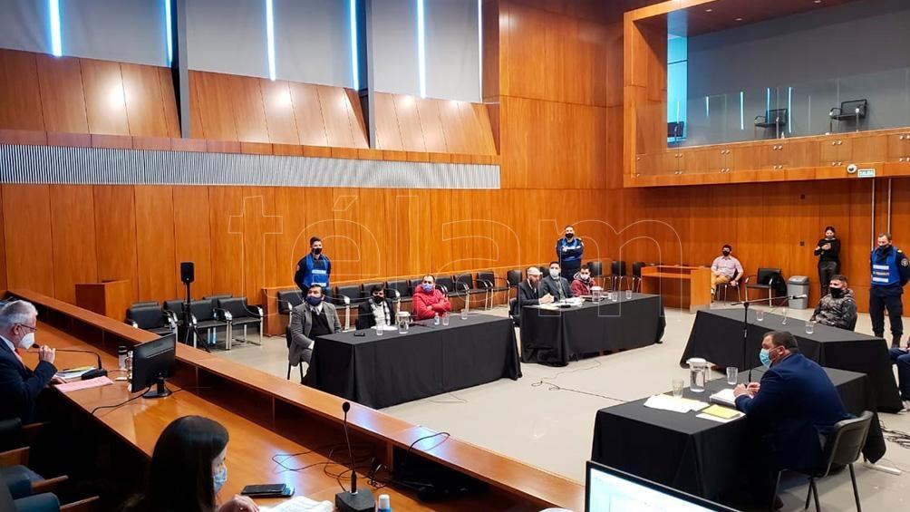 El detenido Alberto Enrique Osuna informó que tiene coronavirus durante la audiencia. Foto: Hernán Saravia.