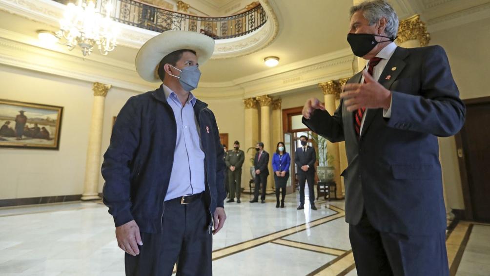 El encuentro se realizó en el Palacio de Gobierno, en la ciudad de Lima