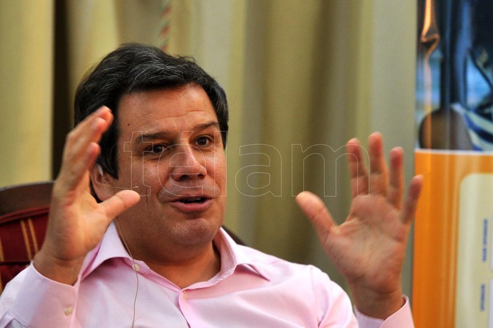 Facundo Manes, que está al frente de la lista bonaerense de JxC representada por la UCR, dio inicio formal a su campaña el jueves último en Salto.Foto: Analía Garelli.