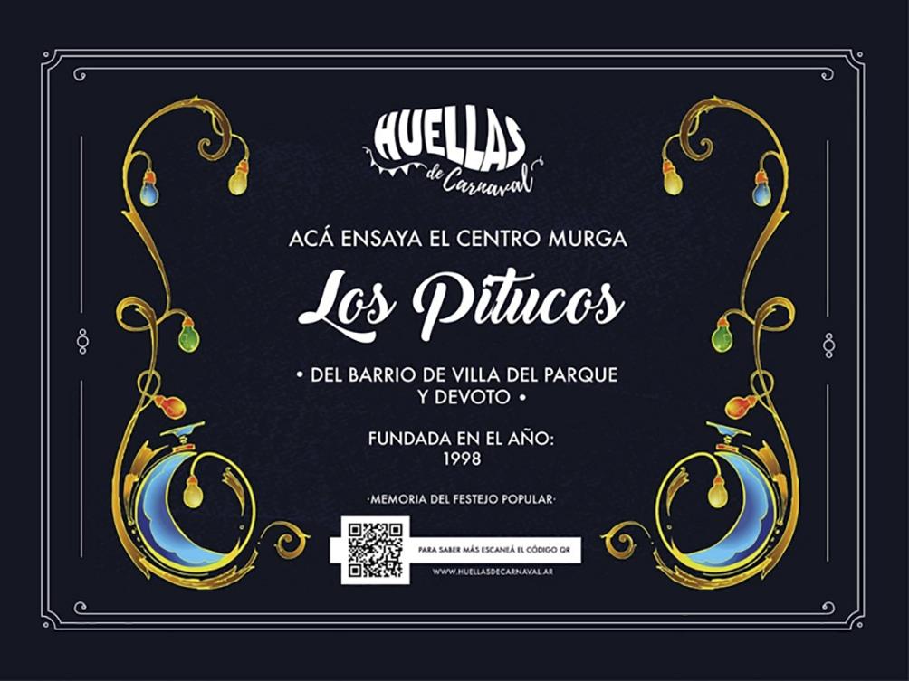 Una de las placas del proyecto Huellas del Carnaval.