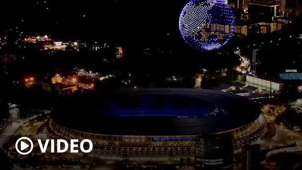 Un impactante show de drones, en la apertura de los Juegos Olímpicos