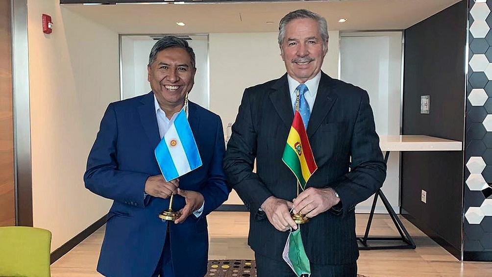 Solá y su colega boliviano Rogelio Mayta hablaron del envío ilegal de material represivo del Gobierno de Cambiemos a ese país.