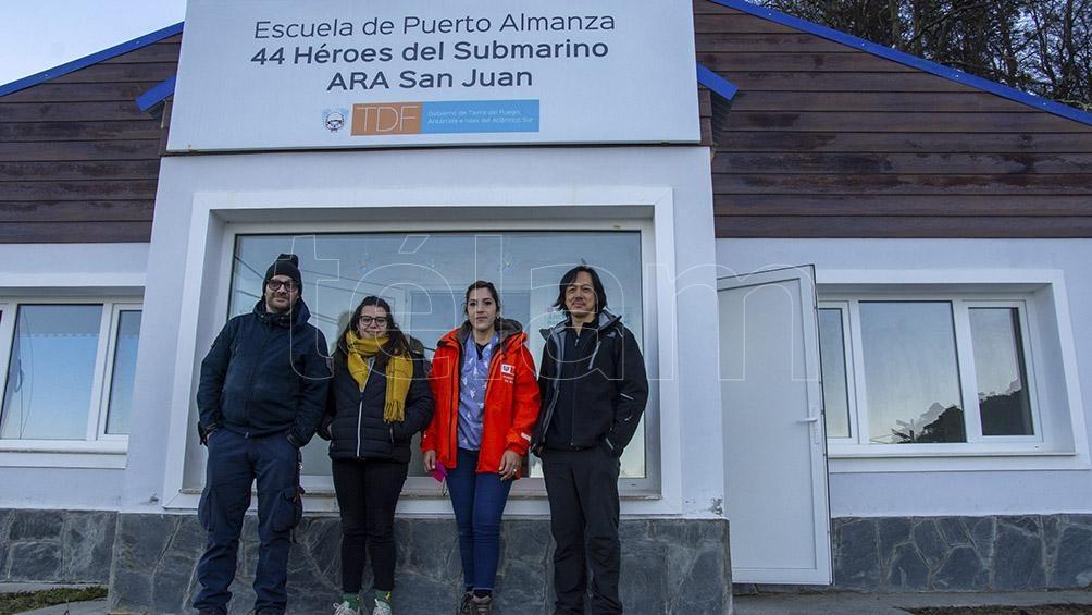 """El único establecimiento educativo de Puerto Almanza es una escuela inaugurada en marzo de 2018 y que lleva por nombre """"44 Héroes del Submarino ARA San Juan"""". Foto: Cristian Urrutia"""