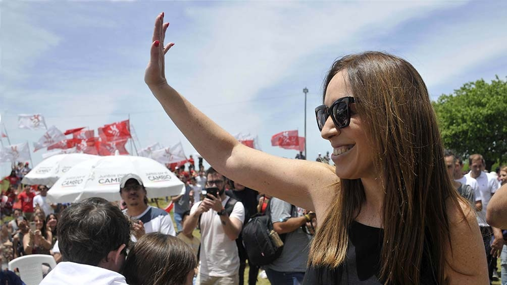Vidal se presenta como precandidata en las PASO en una de las listas de Juntos por el Cambio en la Ciudad de Buenos Aires para la categoría diputada nacional. Foto: Eva Cabrera