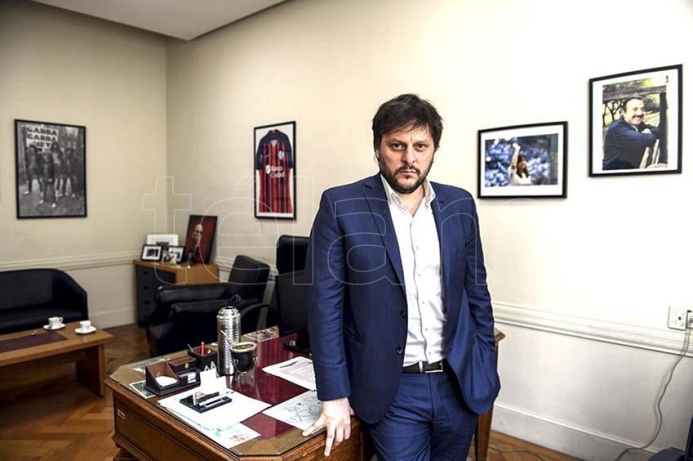 """Santoro pidió """"defender"""" el proyecto que encabeza el presidente Alberto Fernández (foto Maximiliano Luna)"""