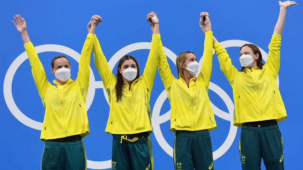 Australia gana el oro en relevo 4x100, con un nuevo récord mundial