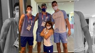 """Pareto, la �guardaespaldas"""" de lujo de la selección de Básquet en Tokio"""