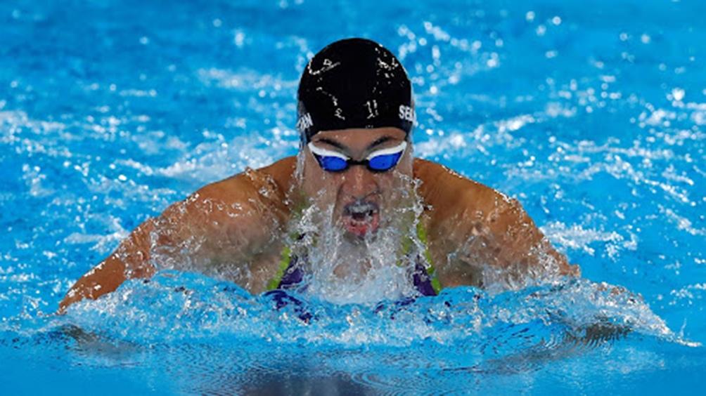 Julia Sebastián terminó séptima en los 200 metros pecho de natación