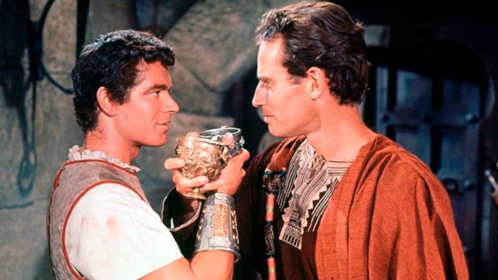 "Stephen Boyd y Charlton Heston en ""Ben-Hur"""
