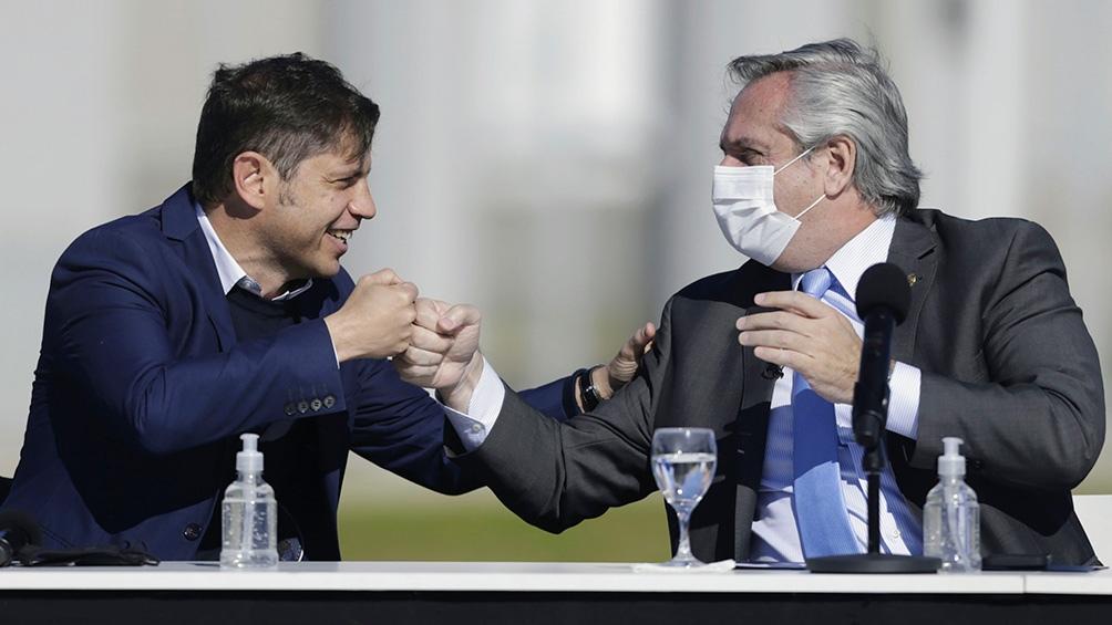 El Presidente y el gobernador bonaerense.