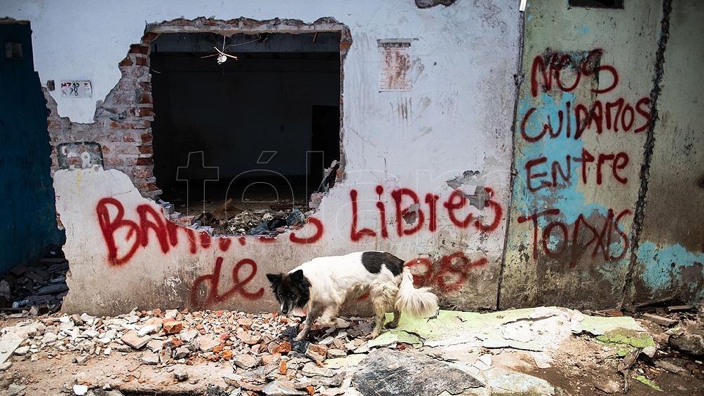 Las condiciones en las que se viven en la zona son muy precarias.(Archivo Camila Godoy).