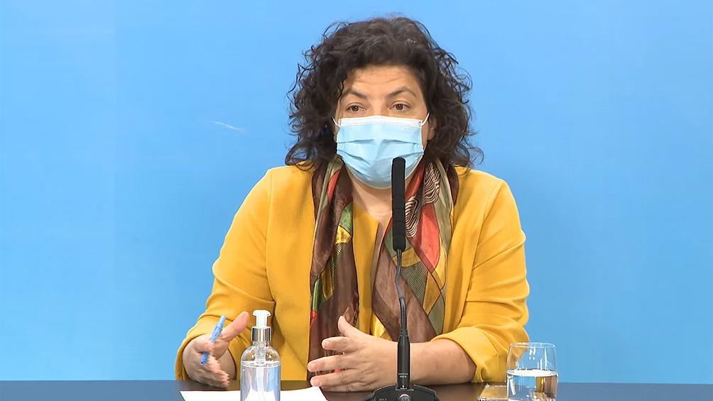 """La ministra precisó que se completarán todos los esquemas de vacunación y que """"se analizará la estrategia a seguir""""."""