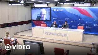 El intercambio comercial y la cooperación ante la pandemia, ejes de una videoconferencia con Rusia