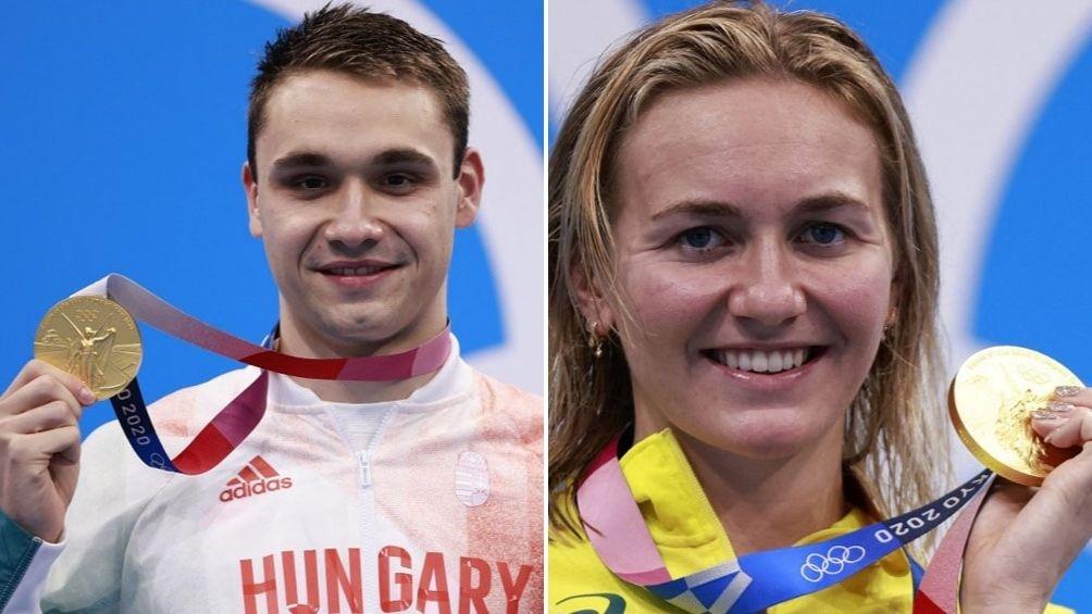 Natación: un húngaro y una australiana, oro y récords en Tokio 2020