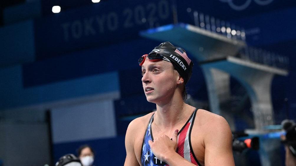 Kathleen Ledecky, oro en la prueba del debut de Pignatiello