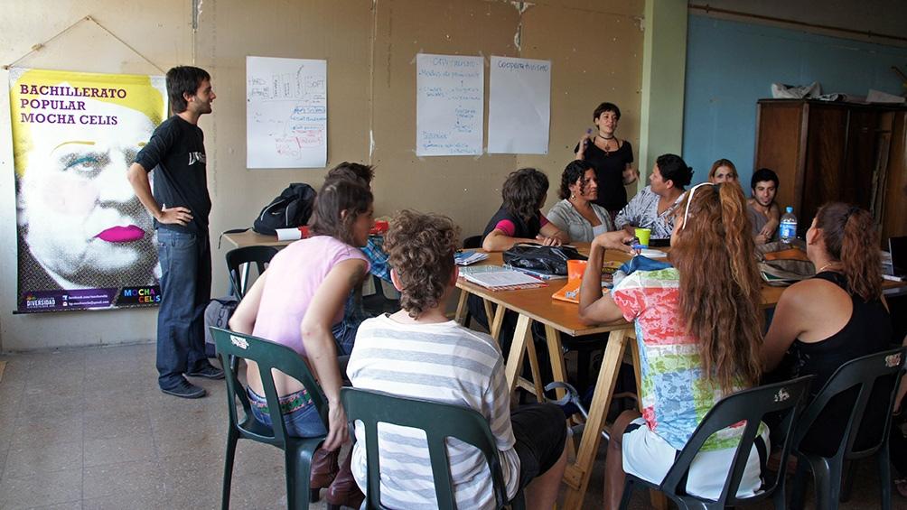 El Bachillerato Popular Mocha Célis, una de las secundarias públicas y gratuitas para esta población. Foto: Gentileza Bachillerato Mocha Celis