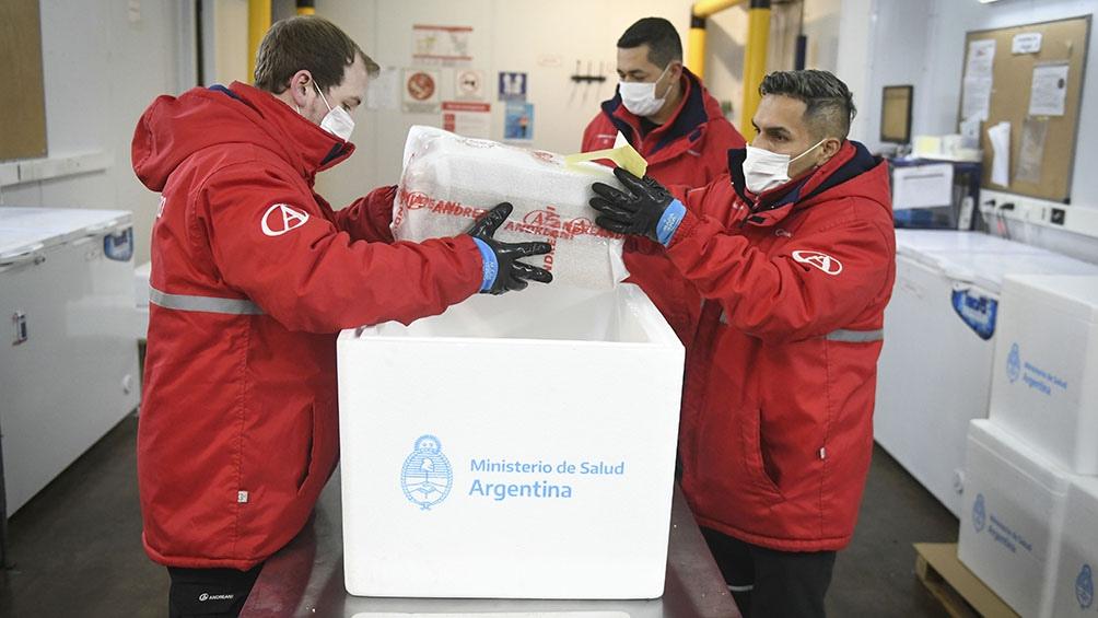 Estas dosis son parte de un total de 3.500.000 que fueron donadas a la Argentina por Estados Unidos.