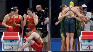 Natación: China ganó el oro con nuevo récord mundial en 4x200 libres femenino