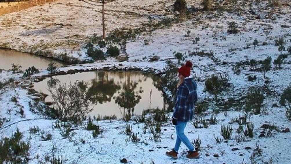 En Santa Catarina se registró la temperatura más baja del año en Brasil, con 8,7 grados bajo cero.