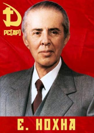 Buletti se declara admirador de Envar Hoxha, el líder de la revolución albanesa.