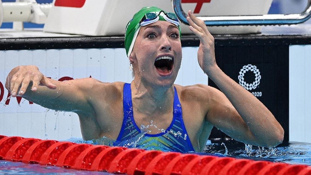Tatjana Schoenmaker, ganadora y récord en Tokio 2020, en los 200 metros pecho (Foto: AFP)