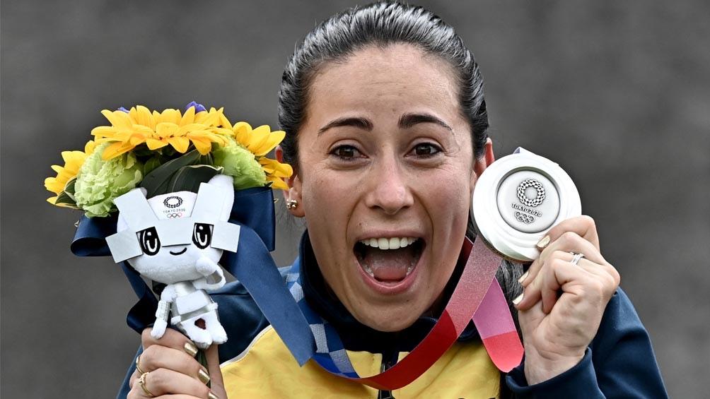 La colombiana Mariana Pajón logró una medalla en tres juegos distintos