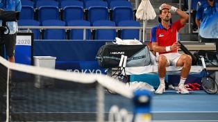"""Djokovic cayó en semifinales ante Zverev y le dijo adiós a su sueño del """"Golden Slam"""""""