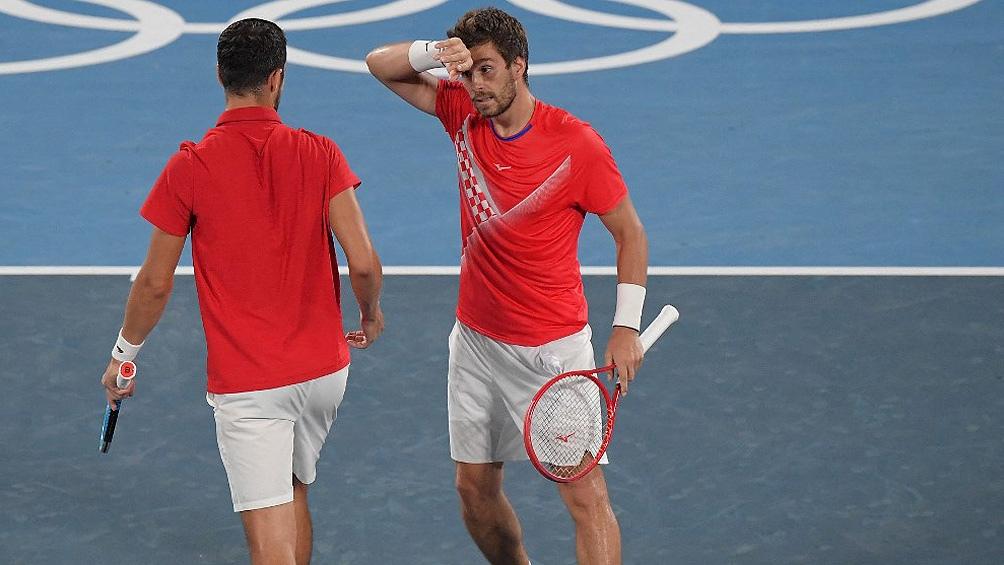 Los croatas ganaron el torneo de dobles. (Foto AFP)