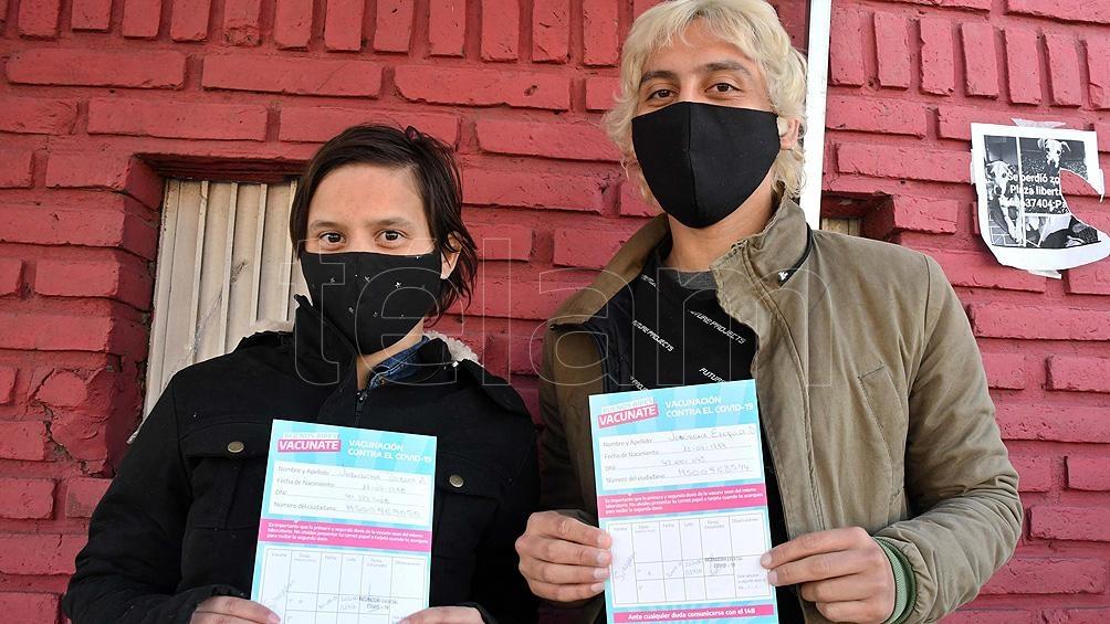 Argentina alcanzó la inmunización del 55,49% de la población total con al menos una dosis. Foto: Gustavo Amarelle.