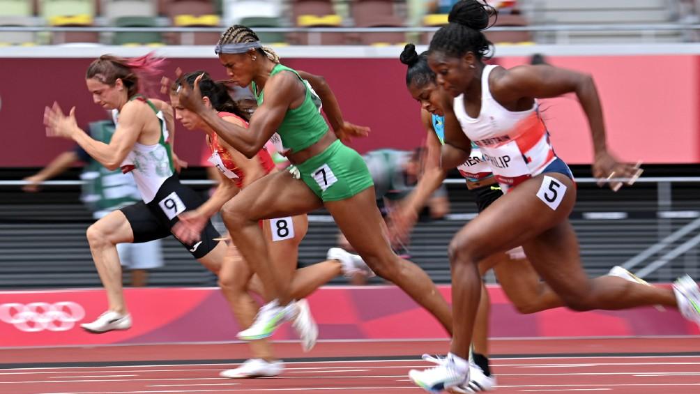 La atleta nigeriana ganadora de la serie de 100 metros, primer doping en Tokio 2020
