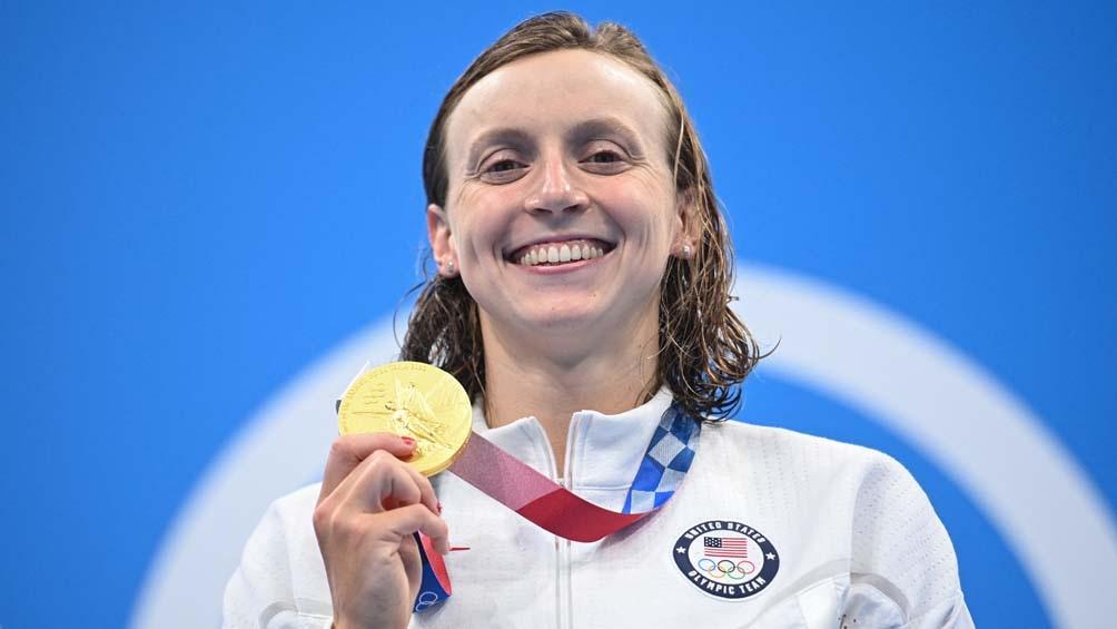 Katie Ledecky logró su séptimo título olímpico. (Foto: AFP)