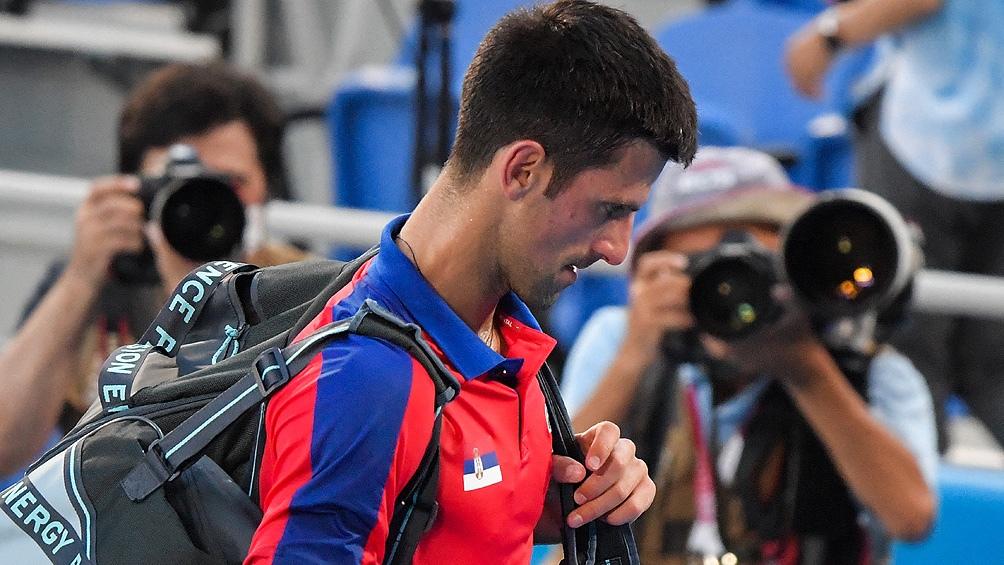 Tras la derrota, Djokovic decidió no presentarse a jugar junto a Nina Stojanovic el partido de dobles por la medalla de bronce.