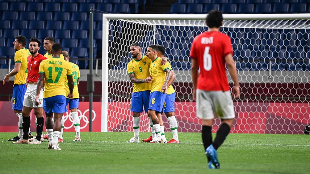 Brasil venció a Egipto por 1 a 0 y avanzó a las semifinales en el fútbol