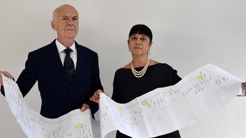 Los investigadores Alessandro Vezzosi y Agnese Sabato.
