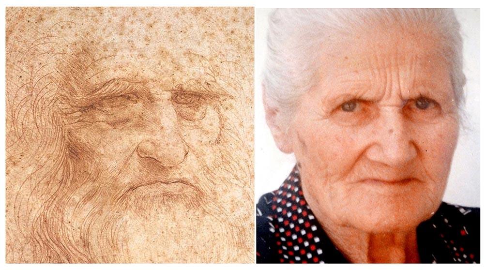 Una fotografía que forma parte del estudio de una mujer llamada Dina Vinci.
