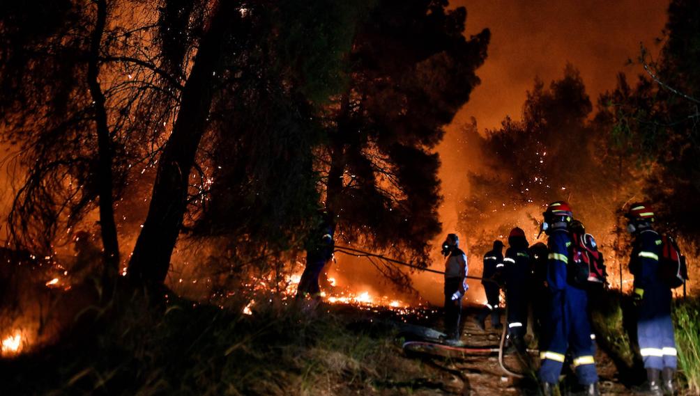 Cinco pueblos griegos del Peloponeso evacuados por incendios