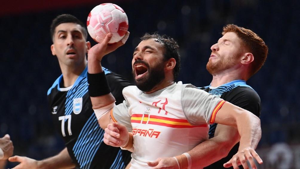 Argentina cayó ante España. Foto: AFP.