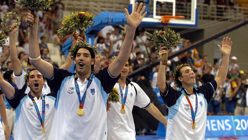 Medalla dorada en Atenas 2004, el mayor logro con la celeste y blanca. (Foto: AFP).