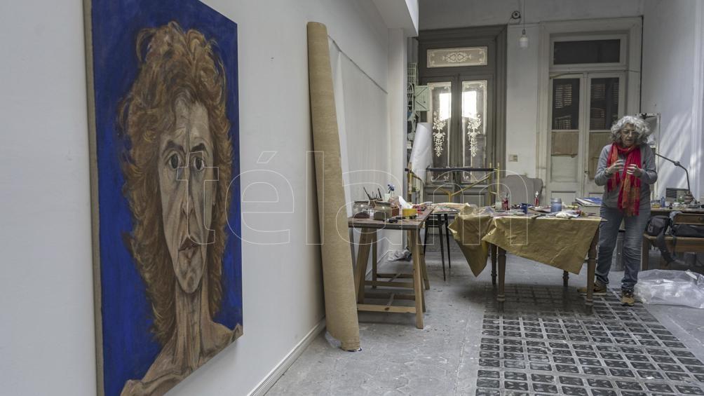 """""""En Argentina muchos todavía no se enteraron de que la pintura está muy valorada"""".  (Fotografía: Mateos Pepe)"""