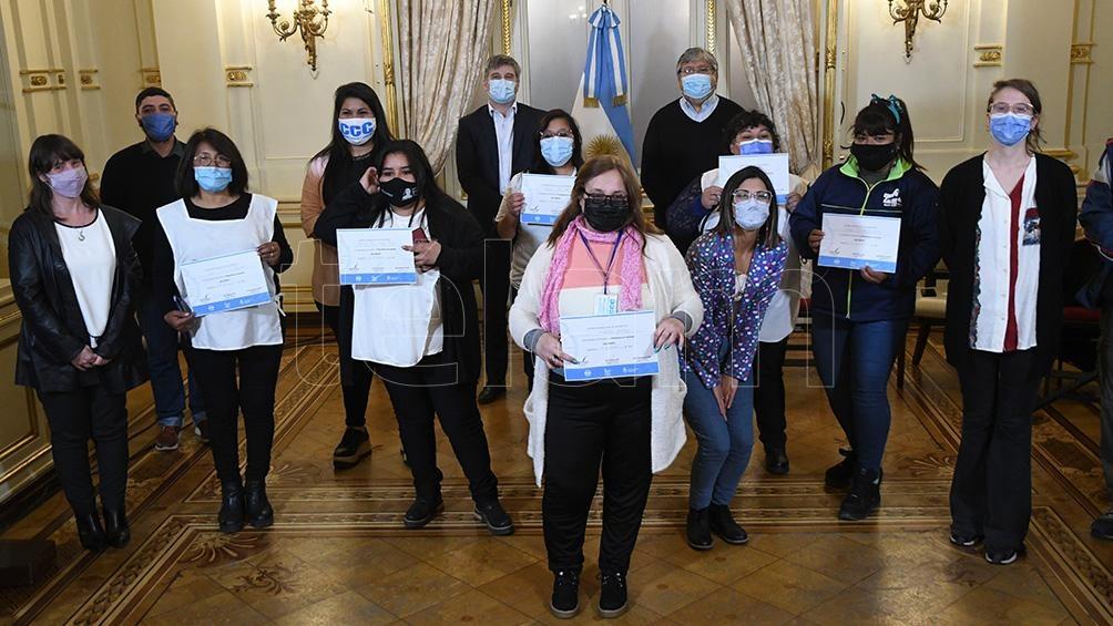 El acto se realizó en el Salón Sur de la Casa Rosada. Foto: Raúl Ferrari.