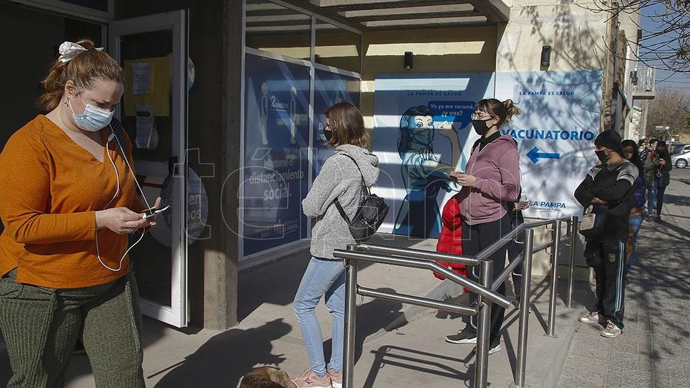 Continúa la campaña de vacunación en La Pampa. Foto: Julián Varela