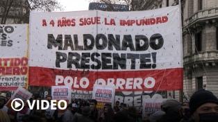 """Exigieron """"juicio y castigo"""" para los responsables de la muerte de Santiago Maldonado"""