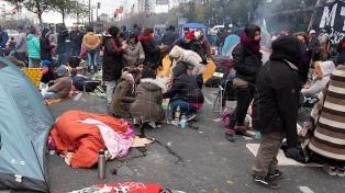 Organizaciones de izquierda levantaron la protesta frente al Ministerio de Educación