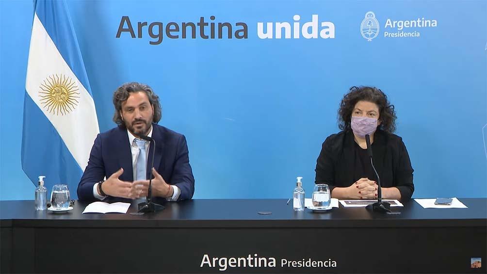 Conferencia de prensa en Casa de Gobierno. Foto: Captura TV.