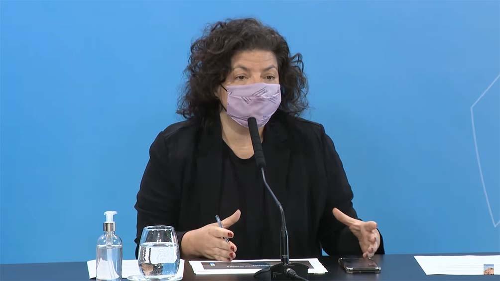 Entre septiembre y octubre el Gobierno proyecta la vacunación de adolescentes no priorizados, anticipó Vizzotti.