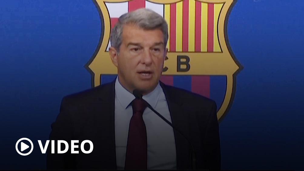 Laporta sobre la salida de Messi: