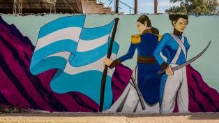 Pintan un mural para visibilizar a las mujeres que lucharon por el país