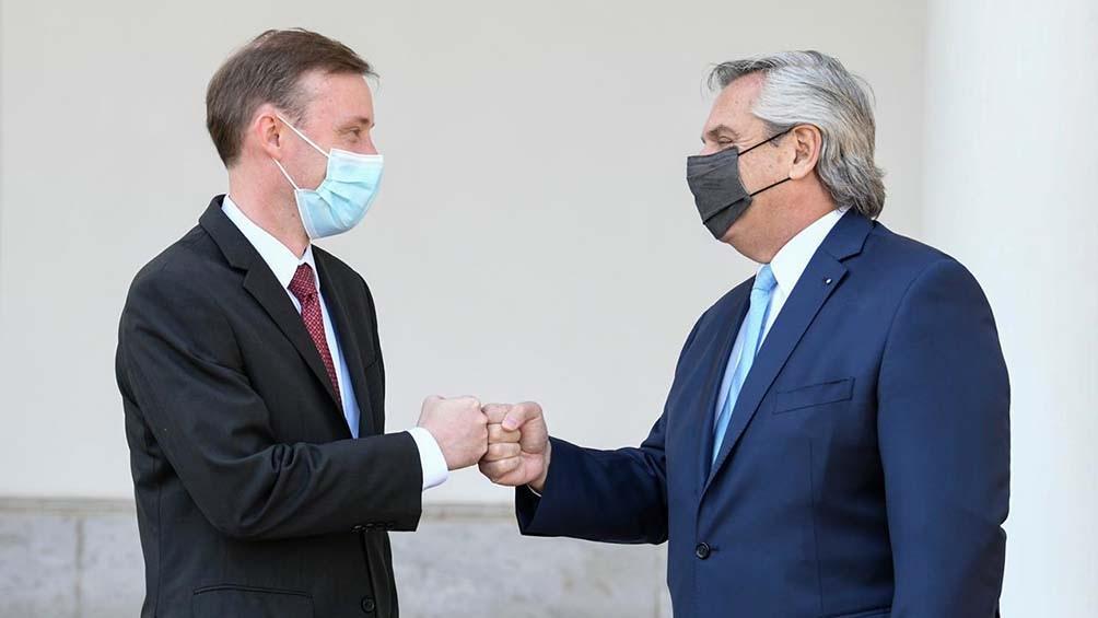 Fernández y Sullivan abordaron el cuidado del medio ambiente y el cambio climático, la revisión de las instituciones financieras y la lucha contra la pandemia,