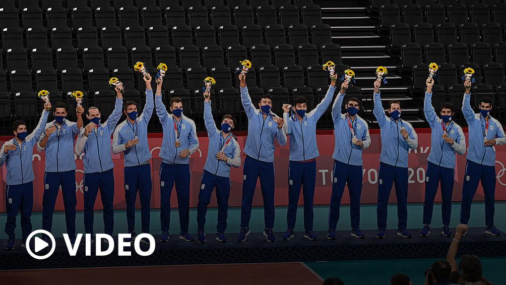 Histórico: el vóley argentino es medalla de bronce en los Juegos de Tokio 2020