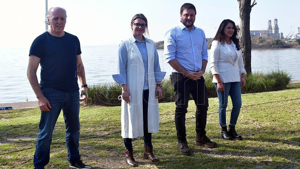 De cara al río, el FdT lanzó en Costa Salguero su lista porteña con críticas a Larreta. Foto: Victoria Egurza.